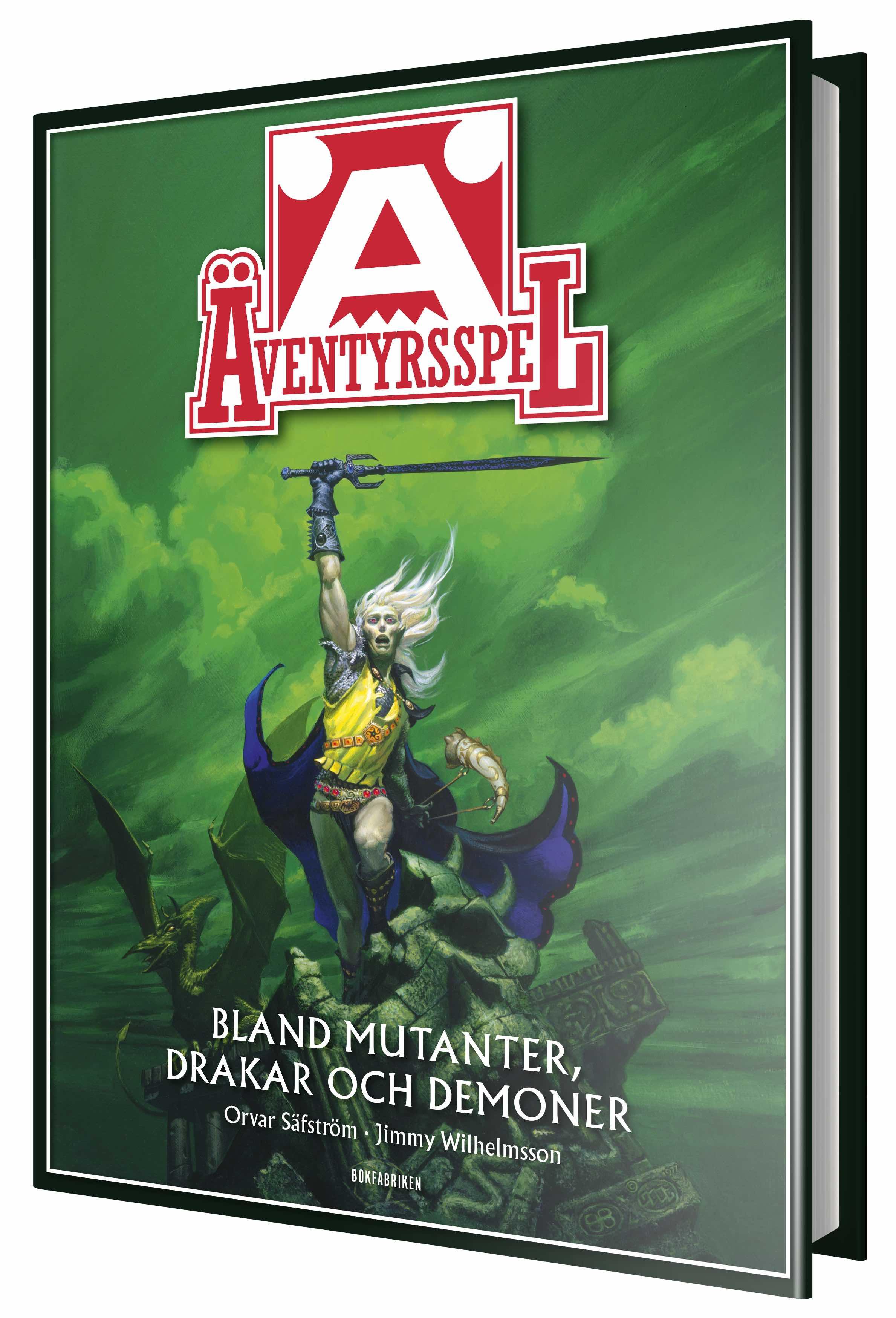 Äventyrsspel – boken (formgivare: Dan Algstrand, illustration: Michael Whelan)
